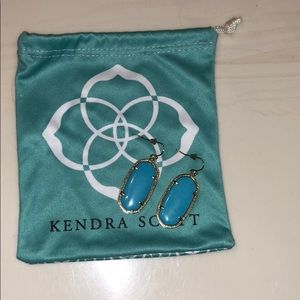 Kendra Scott turquoise and gold drop earrings